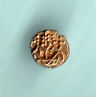 India 1700 - 1830 AD Extremely RARE Dutch Narsimha Pulicat Gold Fanam Coin 28