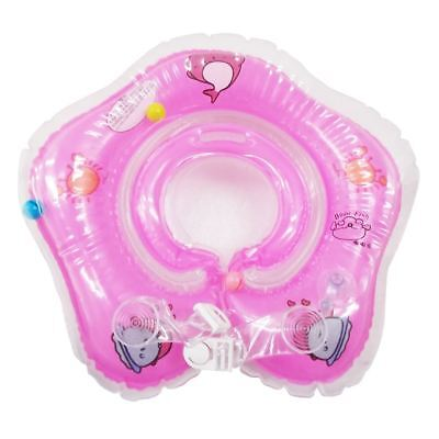 Pink 1 pc Inflatable Baby Swimming Neck Float