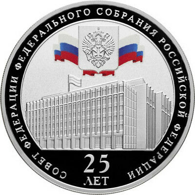 3 Rubel Federation Council Federal Assembly 1 Oz Silber Proof Russland 2018