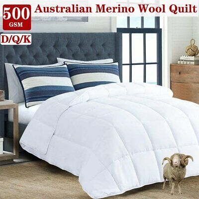 Luxury Bedding Duck Down Feather Quilt 500/700GSM Blanket Duvet Doona All Sizes