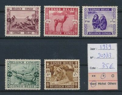 LJ64073 Congo Belgium 1939 wildlife animals fine lot MH cv 35 EUR