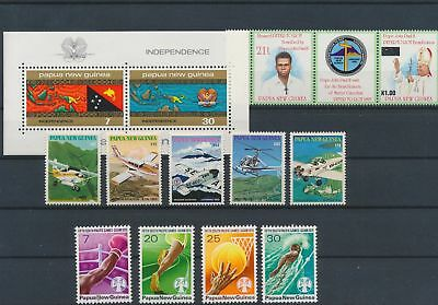 LJ62781 Papua New Guinea nice lot of good stamps MNH