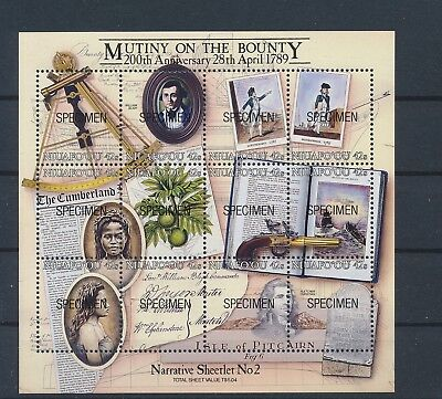 LJ62801 Niuafo'ou specimen Mutiny on the Bounty good sheet MNH