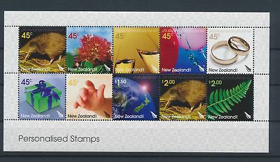 LJ62812 New Zealand personalised stamps good sheet MNH