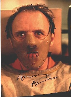 ANTHONY HOPKINS Signed 16X12 Photo SILENCE OF THE LAMBS AFTAL OnlineCOA