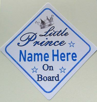 Baby Safety & Health Hearty Handmade Grandads Little Prince Baby On Board Car Sign Special Buy Other Baby Safety & Health