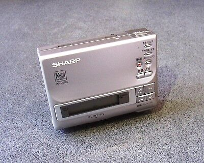 Sharp MD-MS100-S Personal MiniDisc Player/Recorder Japan Working