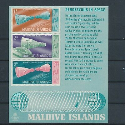 LJ63022 Maldives rendezvous in space imperf sheet MNH