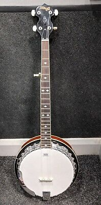 Stagg 5 String Bluegrass Banjo Deluxe with Metal Pot & Remo Head Missing Strings