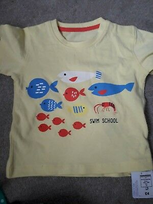 9 to 12 months unisex t shirt new with tags marks and spencer