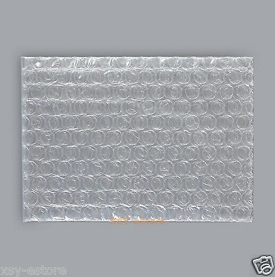 """50 Small Size Clear Plastic Bubble Cushioning Bag 2.5"""" x 3""""_65 x 75mm_Open Top"""