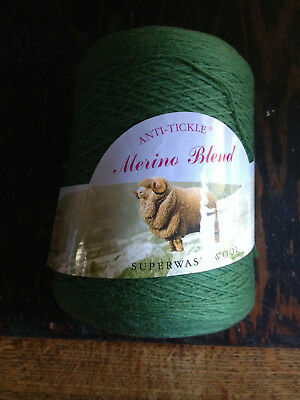 King Cole cone of Anti-Tickle Merino Blend Yarn shade green (854) approx 500g