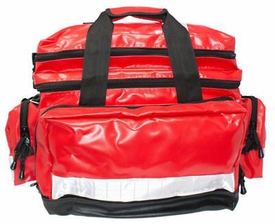 Wipe Down Emergency First Aid  Bag Large Red Empty Or Kitted *FREE PRINTING*
