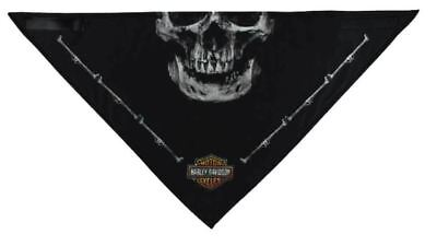 Genuine Harley Davidson Men's 3-in-1 Convertible Deadly Jaw Bandana