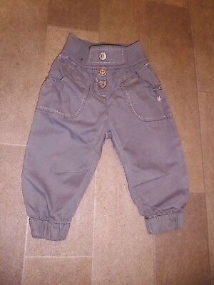 Baby Girls Khaki Cargo Trousers By Next Size 9-12 Months