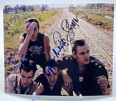 The Clash Signed 10x8 Photo AFTAL OnlineCOA