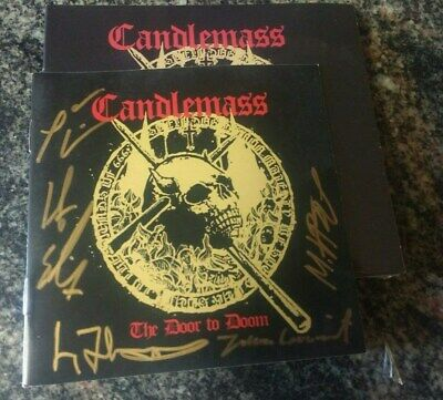 Autographed Candlemass The Door To Doom cD w/Original Singer+ tony iommi on1trac