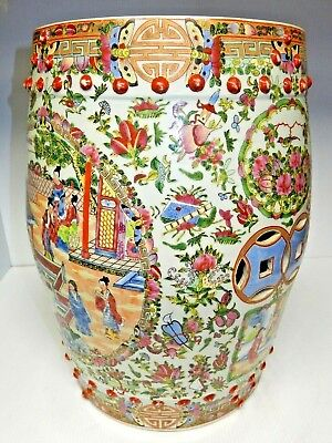 "18"" Oriental Decorative Chinese Ceramic Garden Stool ~ Hand Crafted And Glazed"