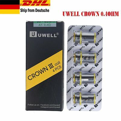 UWELL Crown 3 Coil Head Replacement Crown III Tank Coils 0,4 OHM 4 pcs