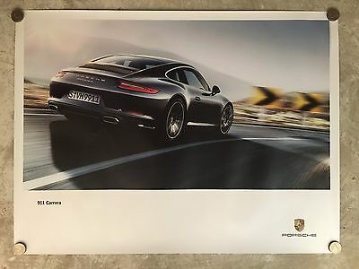 2015 Porsche 911 Carrera Coupe Showroom Advertising Sales Poster RARE!! Awesome