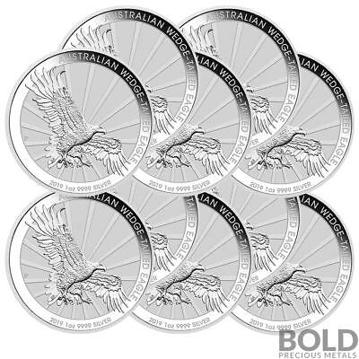 2019 Silver 1 oz Australia Perth Wedge-Tailed Eagle BU (10 Coins)