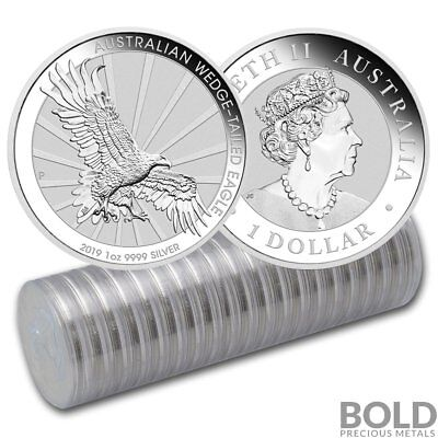 2019 Silver 1 oz Australia Perth Wedge-Tailed Eagle BU (20 Coins)