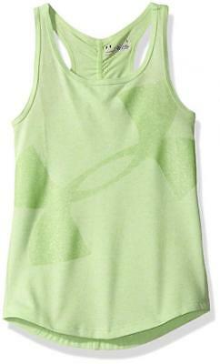 Under Armour Girls Summer Lime Dry Fit Tank Logo Top Size 5