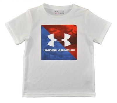 Under Armour Toddler Boys S/S White Dry Fit Logo Top Size 2T