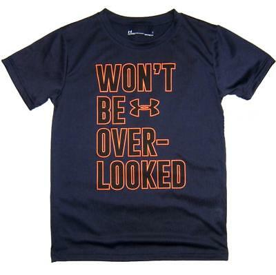 Under Armour Toddler Boys Navy & Orange Won't Be Over-Looked Dry Fit Top Size 2T