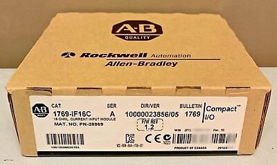 New Sealed Allen Bradley 1769-IF16C /A CompactLogix 16-Ch Current Input