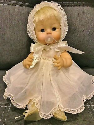 "Vintage 1965 Madame Alexander 13"" Sweet Tears Baby Doll Original with Pacifier"