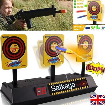Satkago Auto-Reset Electronic Scoring Targets For Nerf Blasters Shooting Games
