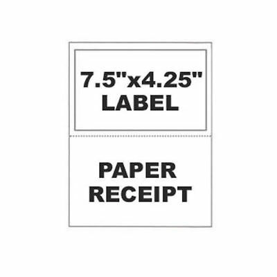 1000 Paypal Ebay ClickNShip Shipping Labels w/ Tear off Paper Receipt