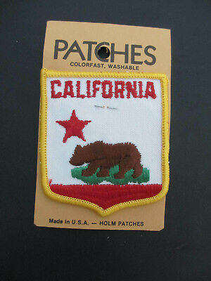 State Of California Flag Shield Embroidered Iron On Patch Travel Souvenir