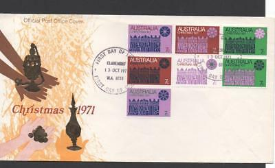 Australia 1971 Christmas Block First Day Cover