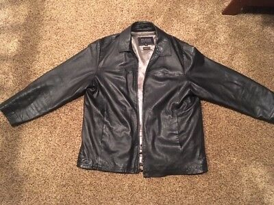 4608659f8 WILSONS LEATHER PELLE Studio Black Leather Jacket w/Thinsulate Liner Men's  Sz XL