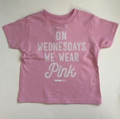 NEW On Wednesdays We Wear Pink Shirt Girls 4T-5T ~ Mean Girls Pink Shirt Kids