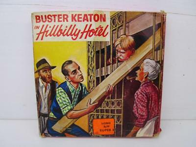 Vintage Super 8mm Film Buster Keaton in Hillbilly Hotel Boxed b/w Silent