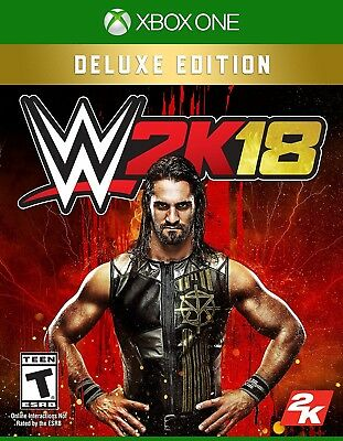 Xbox One Xb1 Video Game Wwe 2K18 Deluxe Edition Brand New And Sealed