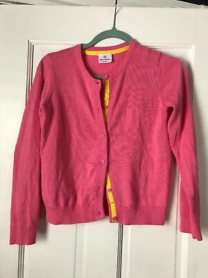 Hanna Andersson Girl's Pink Cotton Cardigan Sweater Sz 150
