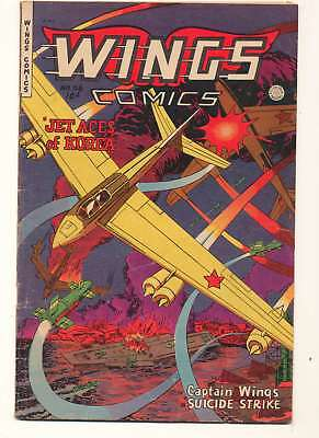 Wings Comics #116 in Very Good + condition. Fiction House comics [*9t]