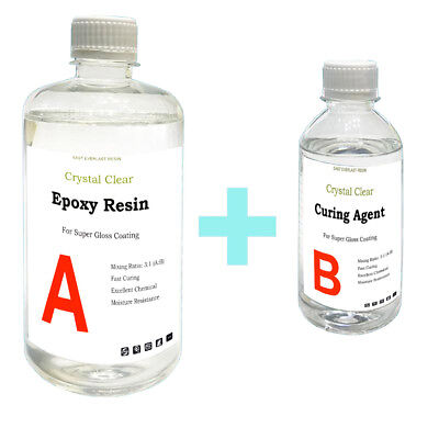 1kg Crystal Clear Epoxy Resin General Purpose - Low Viscosity - UV Resistant