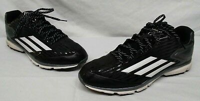 ff4a159107fa Adidas Mens Size 13 PowerAlley 3 Turf Baseball Trainer Shoes Black Q16554
