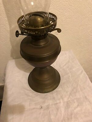 British Made Oil Lamp With A Flute No Bowl