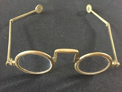 Antique Chinese or Korean Double Hinged Spectacles Eyeglasses 1800's Steampunk!