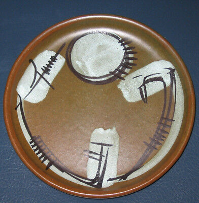RETRO ISRAEL HANDPAINTED Serving Plate Pottery