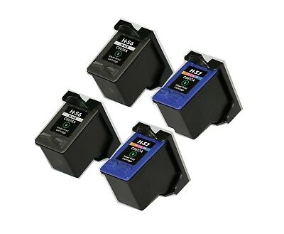 4Pk Non-Oem Ink For Hp 56 & 57 C6656An C6657An Psc 1110 1210 1300 1315 2100 2170