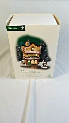 "DEPARTMENT 56 DICKENS VILLAGE ""The Daily News"" CHRISTMAS Building w Figures Box"