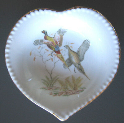 Retro Westminster China Butter Plate Pin Heart Shape Dish