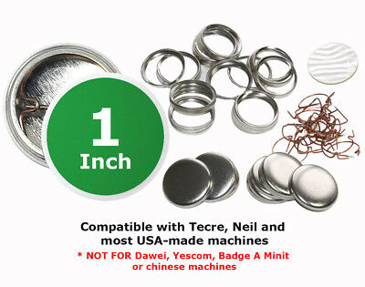 1 inch diameter Pin Buttons 1000 SETS Metal Parts for Badges Name Tags Backpins